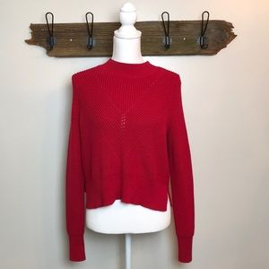 Sweater Red Pacsun Kendall & Kylie Crew Neck NWT